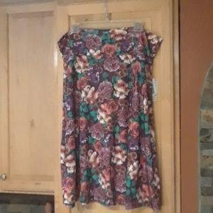 LuLaroe Azure Multicolor Floral Print Skirt NWT